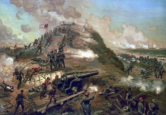 "Friday Jan. 13, 1865 marked the beginning of the end for the defenders of the Confederate stronghold known as Fort Fischer. Union forces mounted a massive (and ultimately successful) attack on the strategically vital fort, which was known as the ""Gibraltar of the Confederacy"". Here are some other Friday the 13th military disasters. (Image source: U.S. Library of Congress)"
