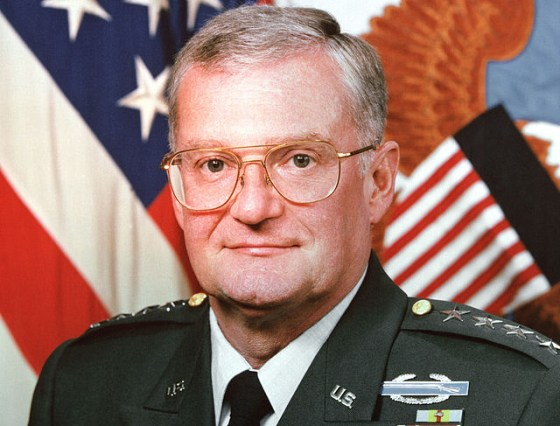 Chairman of the U.S. Joint Chiefs of Staff 1993 to 1997, General John Shalikashvili. (Image courtesy of the U.S. Dept. of Defense)