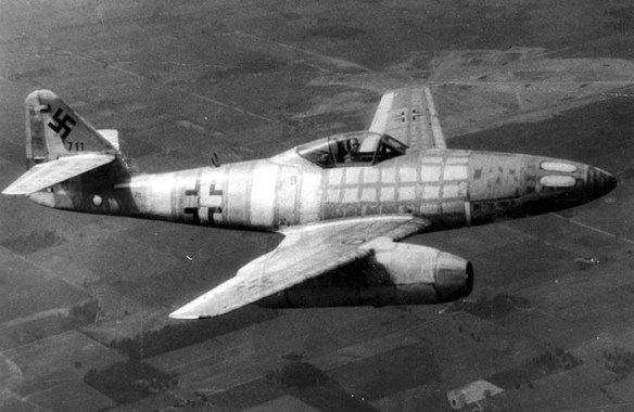 The Me-262. (image source: U.S. Air Force)