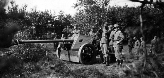 The Pak 40 anti-tank gun. (Image source: WikiCommons)