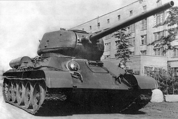 Upgraded T-34-85s had larger turrets with a heaver main gun. (Image source: world-war-2.wikia.com)
