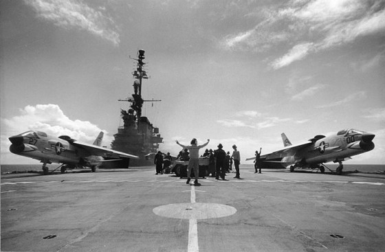 American warplanes were poised to strike at Cuba in October of 1962. Any attacks would have likely led to World War Three. (Image Source: WikiCommons)