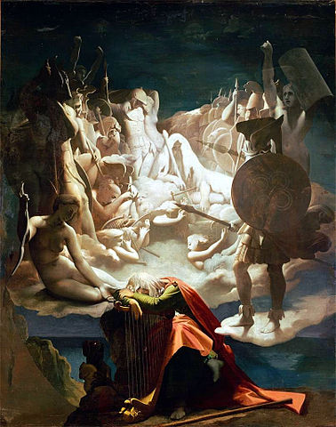 The Dream of Ossian by Jean Auguste Dominique Ingres, 1813, commissioned by Napoleon. (Image source: WikiCommons)