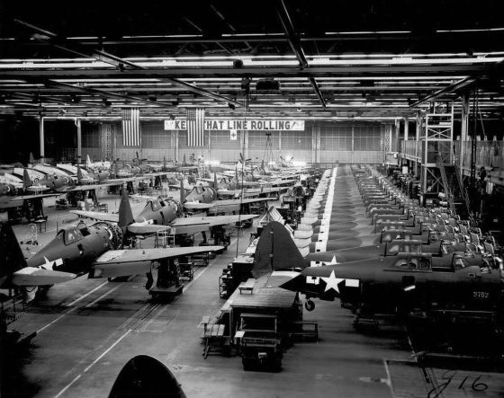 American factories pumped out one P-47 Thunderbolt every two hours for the duration of World War Two.