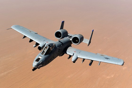 The Fairchild Republic A-10 Thunderbolt II was inspired by the P-47. (Image source: U.S. Air Force)