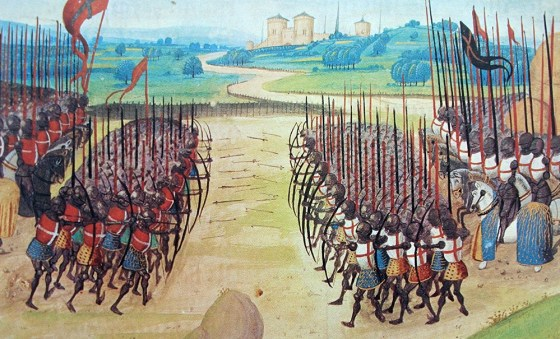 The bow, not the sword, dominated many Medieval battlefields. (Image source: WikiCommons)