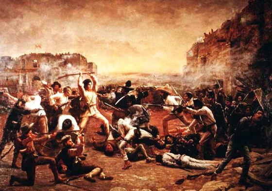 The Fall of the Alamo. (Image source: WikiCommons)