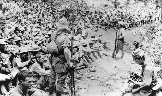 The Bataan Death March. (Image source: National Archives)