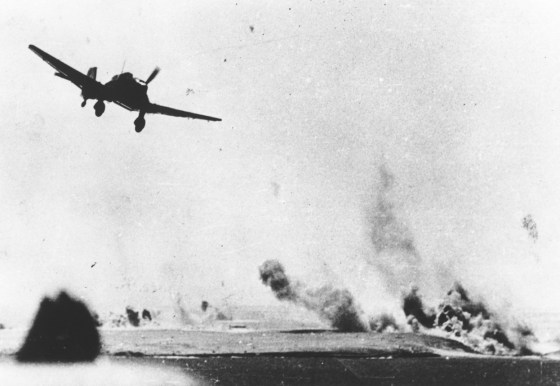 A Ju 87 attacks an Allied position in North Africa. (Image source: Associated Press)