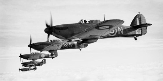 RAF Hurricanes and Spitfires made short work of the Stuka in 1940. (Image source: WikiCommons)