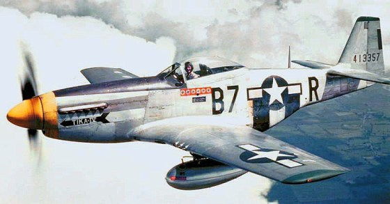 The North American P-51 Mustang. (Image source: WikiCommons)