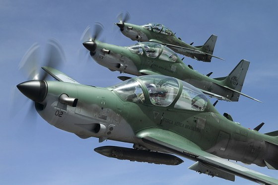 Embraer A-29 Super Tucanos. (Image source: Embraer Defesa)