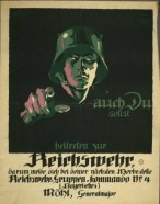 A late First World War German recruiting poster. (Image source: WikiCommons)