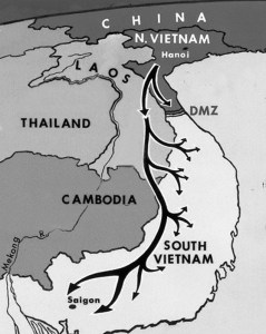 A map of the Ho Chi Minh Trail. (Image source: WikiCommons)