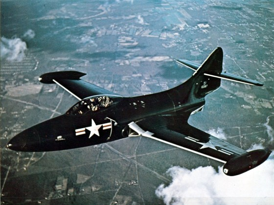 On Nov. 18, 1952, U.S. Panther jets like this one found themselves in a fight to the death with Soviet MiGs over the Sea of Japan. The entire incident remained top secret for years. (Image source: WikiCommons)