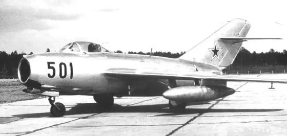 Soviet MiG-15s like this one attacked jets from the USS Oriskany.  (Image source: WikiCommons)