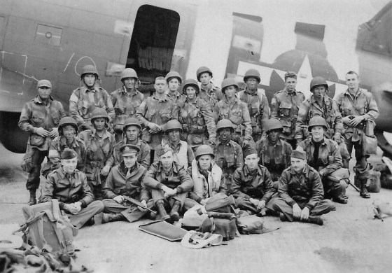 U.S. Army Pathfinders pose for a picture moments before taking off to invade France. (Image source: Wikipedia)