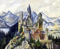 Neuschwanstein Castle. This painting was auctioned off in June 2015. (Image source: AFP Photo/ Christof Stache)