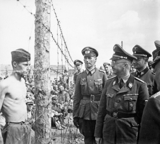 SS chief Heinrich Himmler inspects a POW camp in Russia. (Image source: German Federal Archive)
