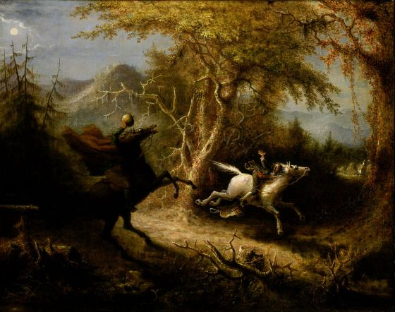 Washington Irving's headless horseman of The Legend of Sleepy Hollow was a Hessian.