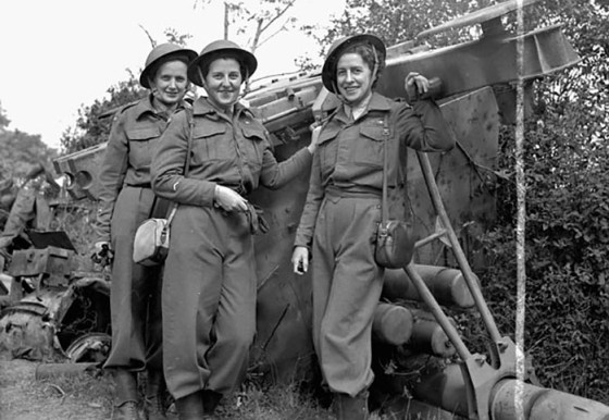 Nurses with the Canadian Army Medical Corps in Normandy, July, 1944. (Image source: Government of Canada)