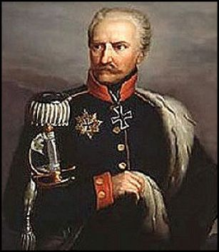 "Prussia's Gebhard Leberecht von Blücher was nicknamed ""Marshal Forward"" by his troops because of his aggressive style of fighting. (Image source: WikiCommons)"