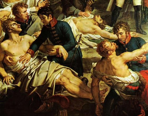 Just shoot me! Very often, an slow and agonizing death awaited battlefield casualties in the early 19th Century. (Image source: WikiCommons)