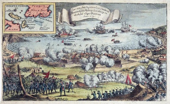 The Battle of Louisbourg. (Image source: WikiCommons)