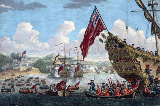 British troops embark for the invasion of Louisbourg, Nova Scotia, 1745. (Image source: WikiCommons)