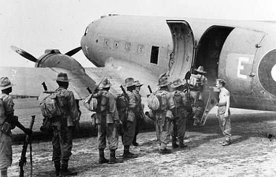 Chindits board an Allied C-47 in preparation for Operation Thursday. (Image source: WikiCommons)