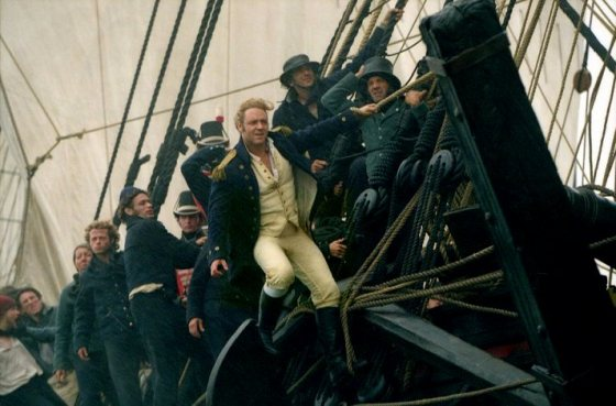 Russel Crowe in command of HMS Surprise in 2003's Master and Commander: The Far Side of the World.