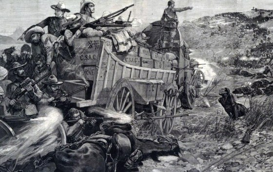Burnham survived the 1893 Battle of the Shangani, which saw more than 30 British South Africa Company troops wiped out by more than 3,000 Matabele warriors. (image source: WikiCommons)