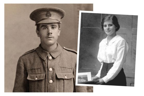 Walter Carter and his sweetheart Lily file posts almost daily for followers. (Image source: WW1 Soldier's Tale)