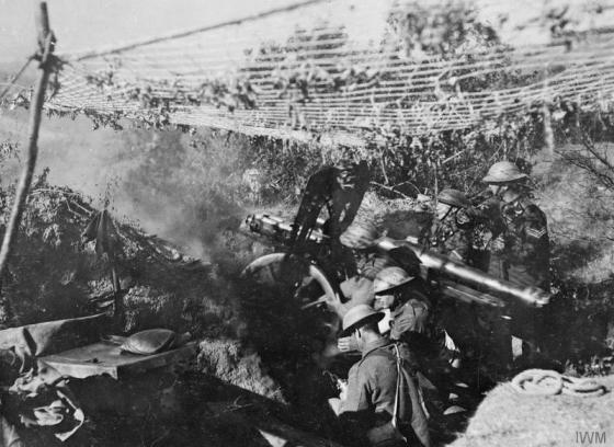 British troops in action on the Macedonian Front. It was an obscure battle here in September of 1918 that helped bring World War One to a rapid conclusion. (Image source: WikiCommons)