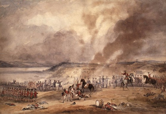 British troops desperately fight off a French counter-attack at Quebec in 1760. The Battle of St. Foy, as it's remembered, was far bloodier and deadlier than the earlier encounter on the Plains of Abraham. (Image source: WikiCommons)
