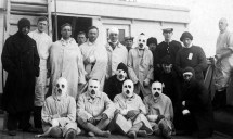 Casualties from HMS Tiger on HMS Plassy, 1916. (Image courtesy of the NMRN)