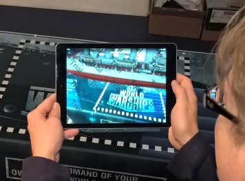 A preview of the augmented reality app available for visitors. (Image Source: Scott Addington)