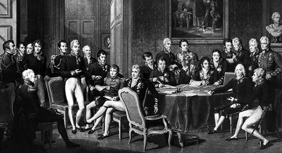 Statesmen hammer out a new Europe at the Congress of Vienna. (Image source: WikiCommons)