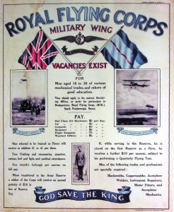 A 1914 RFC recruiting poster. (Image source: WikiCommons)