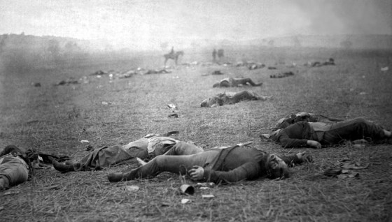 The aftermath of Gettysburg. (Image source: WikiCommons)