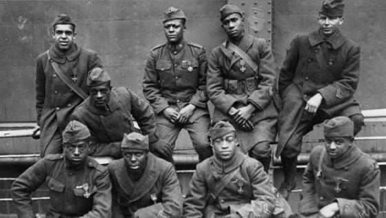 "Not all African Americas fought in regiments like the 369th Infantry Regiment aka ""The Harlem Hellfighters."" Many served in French regiments long before America entered the war. (Image source: WikiCommons)"