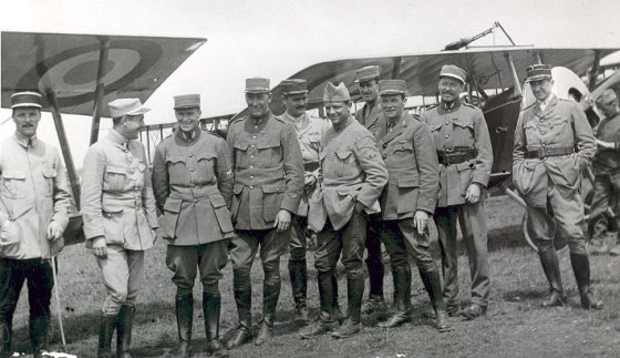 American pilots of the Lafayette Escadrille. (Image source: WikiCommons)