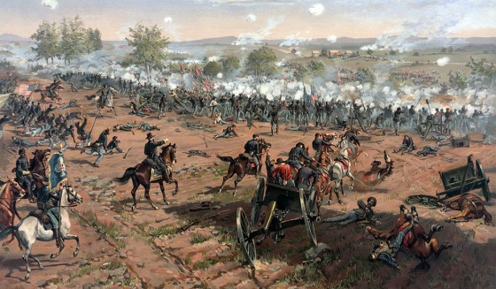 A view of Pickett's Charge from the Union line. (Image source: WikiCommons)