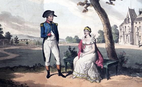 Napoleon and Josephine at Malmaison. (Image source: University of Maryland)