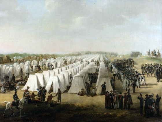 A Dutch army camp of the the early 19th Century. Yet military encampments of the era were far from picturesque. (Image source: Netherlands-Tourism.com)