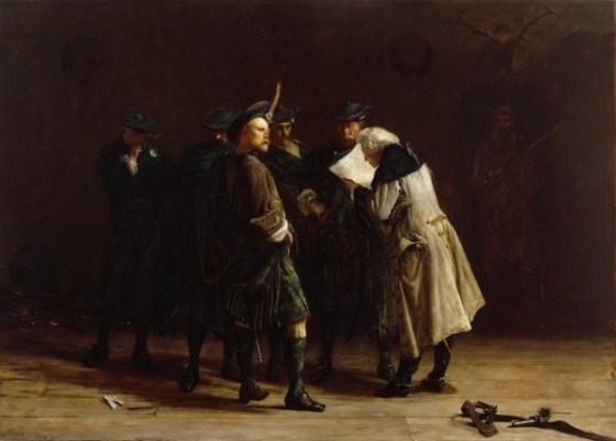 A romanticized depiction of Jacobites. (Image source: WikiCommons)