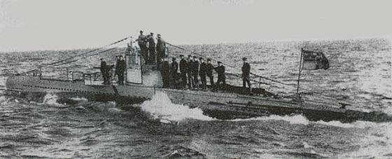 The German submarine U-20.