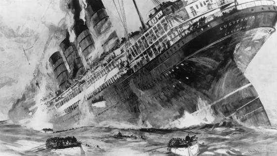 Nearly 1,200 perished in the 1915 attack on the RMS Lusitania. One survivor of the incident remembers the frantic fight for life as the giant passenger liner foundered. (Image source: WikiCommons)