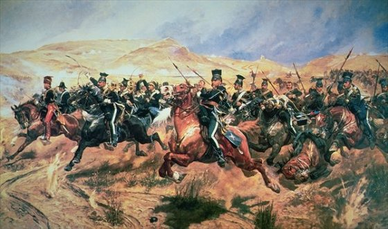 """Into the valley of death rode the six hundred."" Alfred, Lord Tennyson's famous ""Charge of the Light Brigade"" poem celebrated the ill-fated attack. (Image source: WikiCommons)"