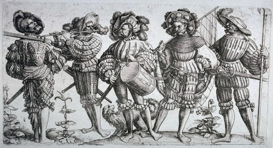 Landsknechts favoured outlandish garb, not only intimidate their enemies, but to flout the conventions of the day. (Image source: WikiCommons)